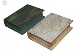 Χειροποίητα Ξύλινα Βιβλία Κουτιά Διακοσμητικά Ρετρό