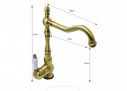 Κλέων Ρετρό Βρύσες Για Νιπτήρες Μπάνιου Bronze