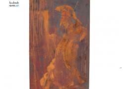 Μεταλλική Ζωγραφική Σκουριάς Αρχαίος Πολεμιστής