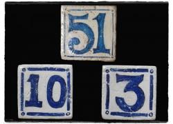 Ντεκόρ Πλακάκια Χειροποίητα Αντικέ Τραβερτίνο Αριθμοί
