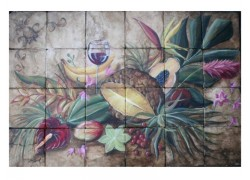 Ειδικά πλακάκια Ντεκόρ Κουζίνας Τροπικά Φρούτα