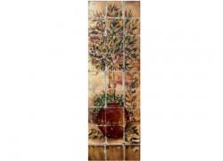 Ρετρό Πλακάκια Παράσταση Κουζίνας Ελιά Ζωγραφική