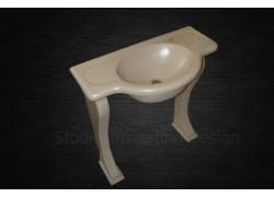 Πέτρινος travertino νιπτήρας μπάνιου δελφοί